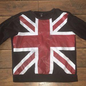 Forever 21 Distressed British Punk Sweatshirt